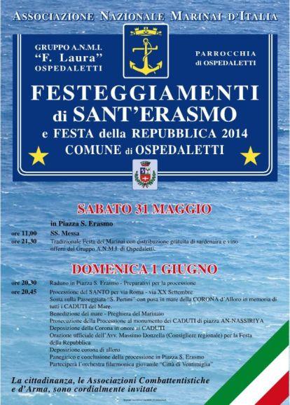 31.5. - 1.6.2014 a Ospidaletti - www.lavocedelmarinaio.com