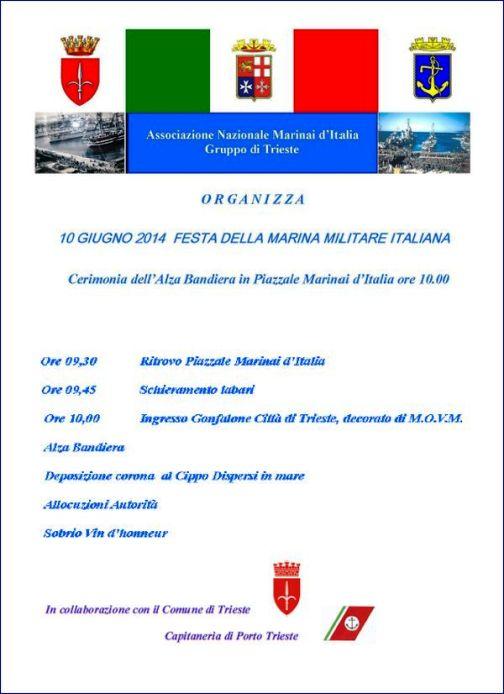 10.6.2014 a Trieste festa della Marina - www.lavocedelmarinaio.com