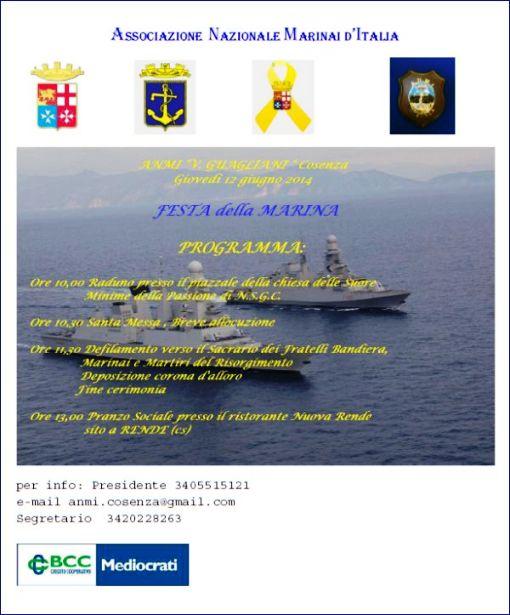 12.6.2014 a Cosenza Festa della Marina - www.lavocedelmarinaio.com