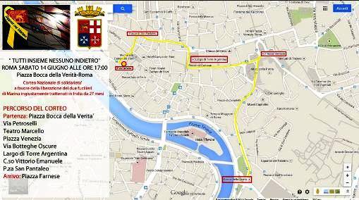 14.6.2014 A ROMA PER I NOSTRI DUE MARO' www.lavocedelmarinaio.com