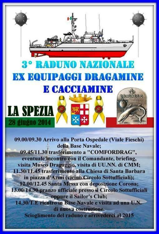 28.6.2014 a La Spezia 3° raduno equipaggi cacciamine- www.lavocedelmarinaio.com