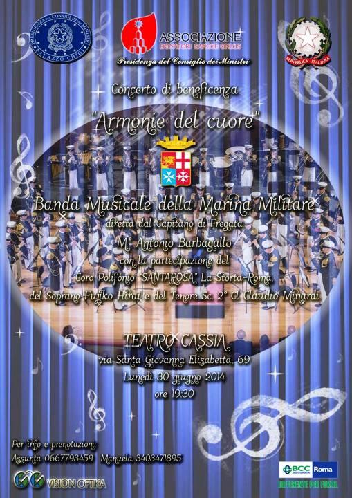 30.6.2014 a Roma Banda della marina al teatro Cassia - www.lavocedelmarinaio.com