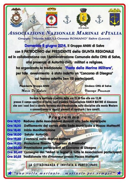 8 giugno 2014 Festa della Marina a Salve (Lecce) - www.lavocedelmarinaio.com