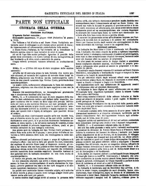 Gazzetta Ufficiale del 12.6.1918 - www.lavocedelmarinaio.com