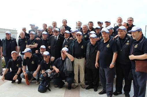I partecipanti al raduno degli equipaggi degli ex sommergibili U.S.A. (Otranto  29 maggio - 1 giugno 2014) foto Fernando Piccino p.g.c. a www.lavocedelmarinaio.com