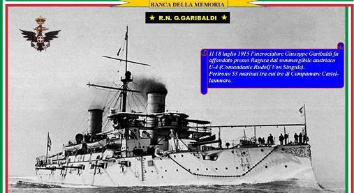 18.7.1915 Affondamento regio ncrociatore Garibaldi - www.lavocedelmarinaio.com