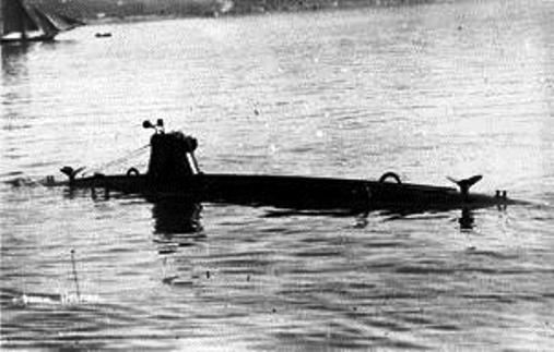 Il sommergibile Delfino (foto U.S.M.M.)