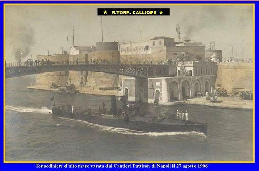 27.8.1906 varo  regia nave Calliope - www.lavocedelmarinaio.com