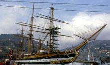 Nave Vespucci ai lavori nell'arsenale di La Spezia