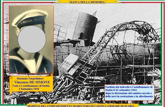 16.9.1943, Marinaio Vincenzo De Simone
