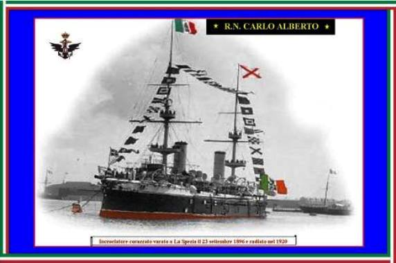 23.9.1896 nave Carlo Alberto www.lavocedelmarinaio.com