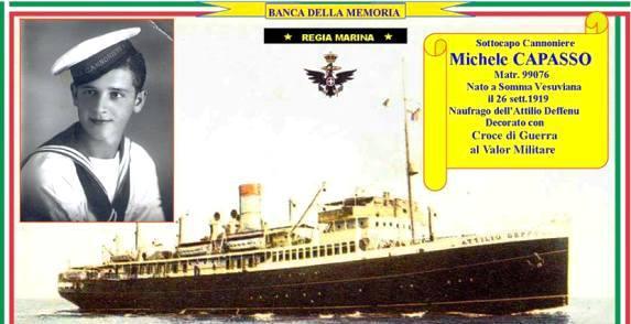 26.9.1919 Michele Capasso e nave Defennu - www.lavocedelmarinaio.com