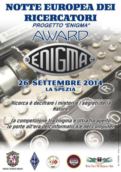 26.9.2014 a La Spezia progetto Enigma - www.lavocedelmarinaio.com
