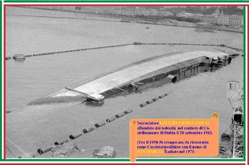 28.9.1943 incrociatore Giulio Germanico - www.lavocedelmarinaio.com