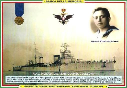 3.9.1941 marinaio Russo Salvatore - www.lavocedelmarinaio.com