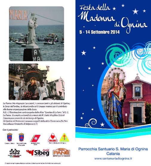 5-14.9.2014 Festa della Madonna di Ognina (Catania) - www.lavocedelmarinaio.com