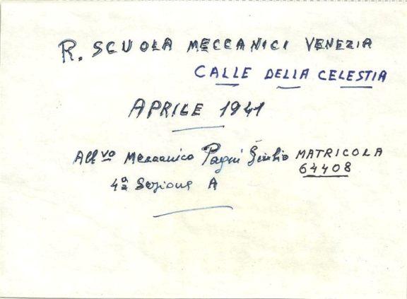 Allievo Meccanico Giulio Pagni - www.lavocedelmarinaio.com
