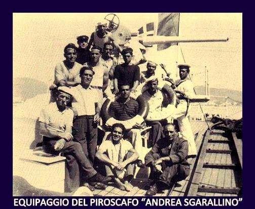 Equipaggio piroscafo Sgarallino - www.lavocedelmarinaio.com