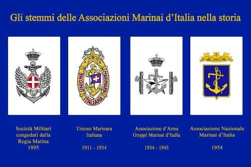 Gli stemmi dell'associazione marinai nella storia - www.lavocedelmarinaio.com