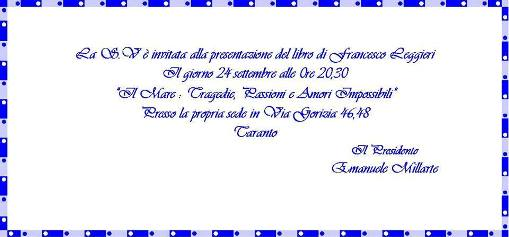 Invito presentazione libro leggieri il 24.9.2014 a Taranto