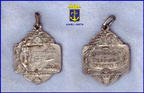 Medaglie celebrative guerra italo-turca (p.g.c. Carlo Di Nitto a www.lavocedelmarinaio.com)
