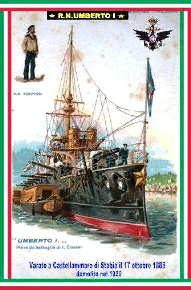 17.10.1888 varo regia nave Re Umberto - www.lavocedelmarinaio.com