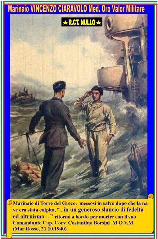 21.10.1940 Ciaravolo Vincenzo Marinaio Medaglia d'Oroal Valor Militare - www.lavocedelmarinaio.com