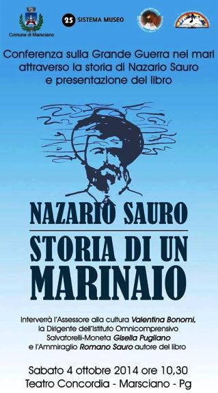 4.10.2014 a Marsciano (PG) presentazione del libro Storia di un Marinao di Romano Sauro - www.lavocedelmarinaio.com