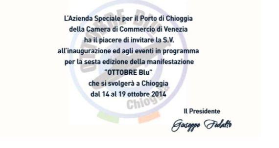 Invito a Ottobre Blu 2014 a Chioggia - www.lavocedelmarinaio.com