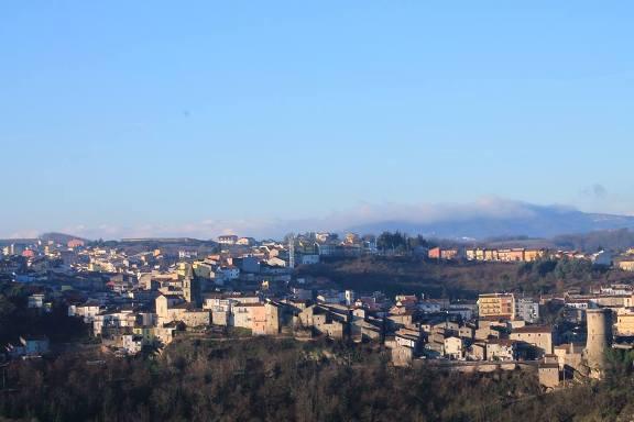 Veduta panoramica del Comune di Riccia (Campobasso) f.p.g.c. Carlo Mignogno a www.lavocedelmarinaio.com