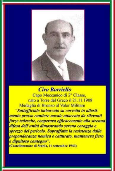 21.11.1908, Ciro Borriello Capo Meccanico di 2^classe - ww.lavocedelmarinaio.com