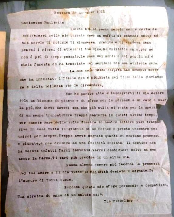 Ferrara, 22.11.1918 tuo Michelino (foto p.g.c. Giovanni Caruso a ww.lavocedelmarinaio.com