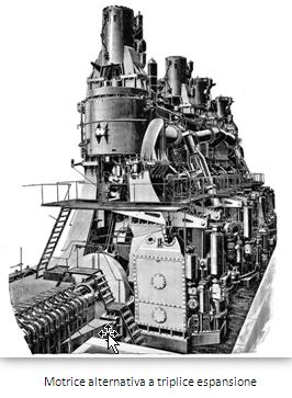 Regia nave Campania - Motrice alternativa a triplice espansione - www.lavocedelmarinaio.com