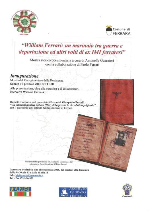 17.1.2015 FERRARA - www.lavocedelmarinaio.com