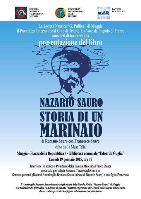 19.1.2015 a Muggia presentazione libro Nazario Sauro - www.lavocedelmarinaio.com