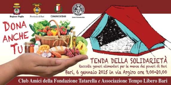 6.1.2015 a Bari tenda della solidarietà invito - www.lavocedelmarinaio.com