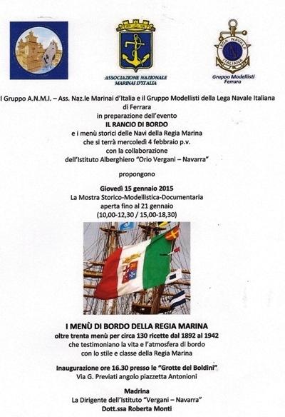 Il rancio di bordo a Ferrara- www.lavocedelmarinaio.com