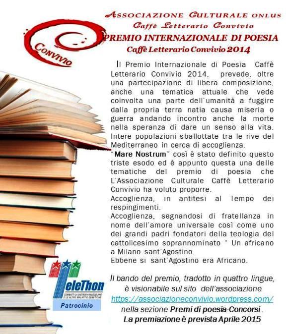 Premio di Poesia Caffè letteraio convivio - www.lavocedelmarinaio.com