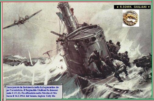 14.2.1944 affondamento regio sommergibile Giuliani - www.lavocedelmarinaio.com