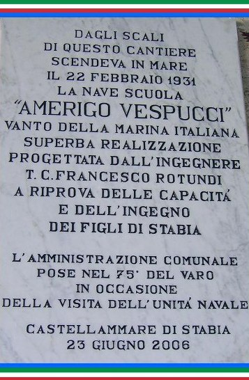 22.2.1931 Castellammare di Stabia a Nave Vespucci  - www.lavocedelmarinaio.com Copia