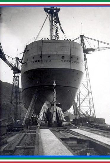 22.2.1931 Varo nave Vespucci - www.lavocedelmarinaio.com