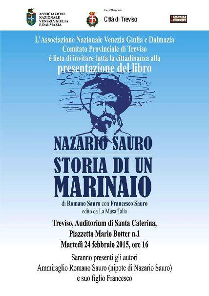 24.2.2015 a Treviso presentazione libro Nazario Sauro Storia di un marinaio - www.lavocedelmarinaio.com