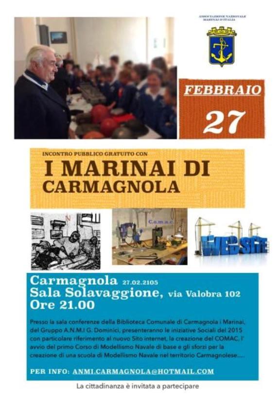 27.2.2015 a Carmagnola Incontro con i marinai - www.lavocedelmarinaio.com