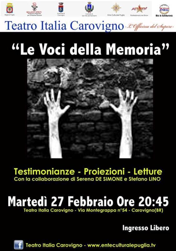 27.2.2015 a Carovigno Le voci della memoria - www.lavocedelmarinaio. com