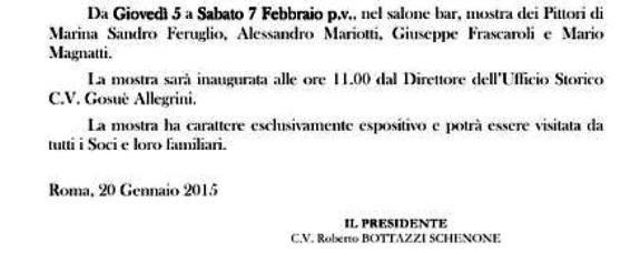 7.2.2015 mostra di pittura al circolo ufficiali Marina militare Roma - www.lavocedelmarinaio.com