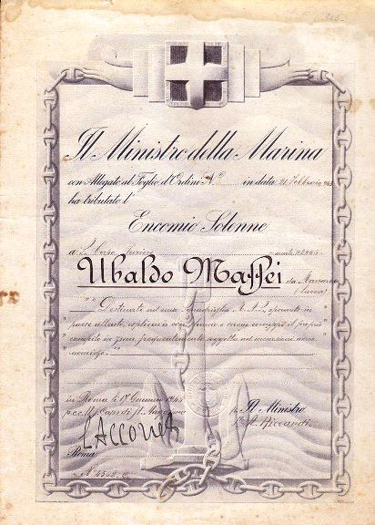 Encomio solenne tributato a Ubaldo Mattei - www.lavocedelmarinaio.com