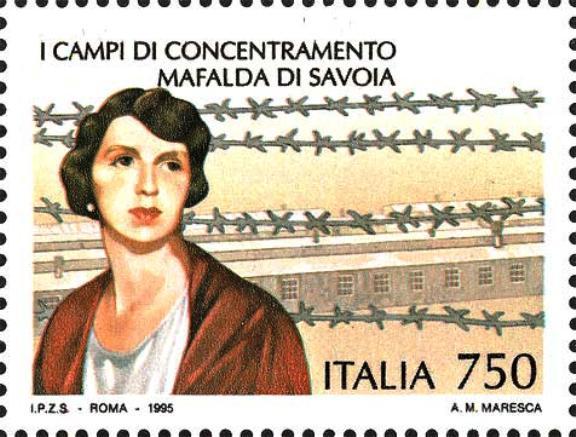 Francobollo in onore di  Mafalda di Savoia - www.lavocedelmarinaio.com