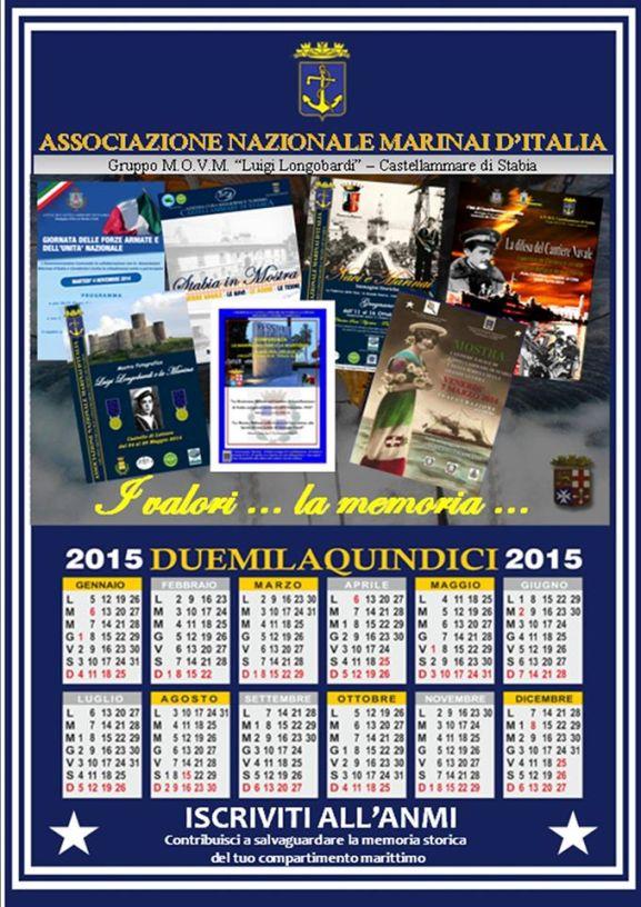 Il calendario 2015 di A.N.M.I. STABIA - www.lavocedelmarinaio.com