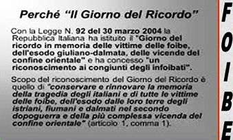 La legge che istituisce la giornata della memoria per le vittime delle Foibe - www.lavocedelmarinaio.com