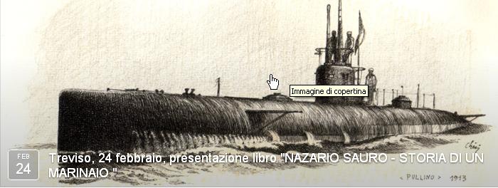 Treviso, 24 febbraio, presentazione libro NAZARIO SAURO STORIA DI UN MARINAIO - www.lavocedelmarinaio.com